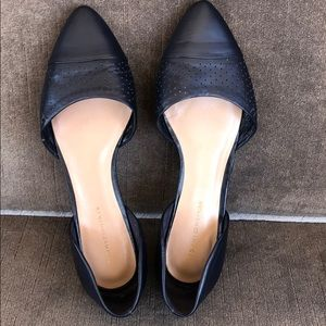 Tommy Hilfiger Naree Navy Blue Leather Flats 8